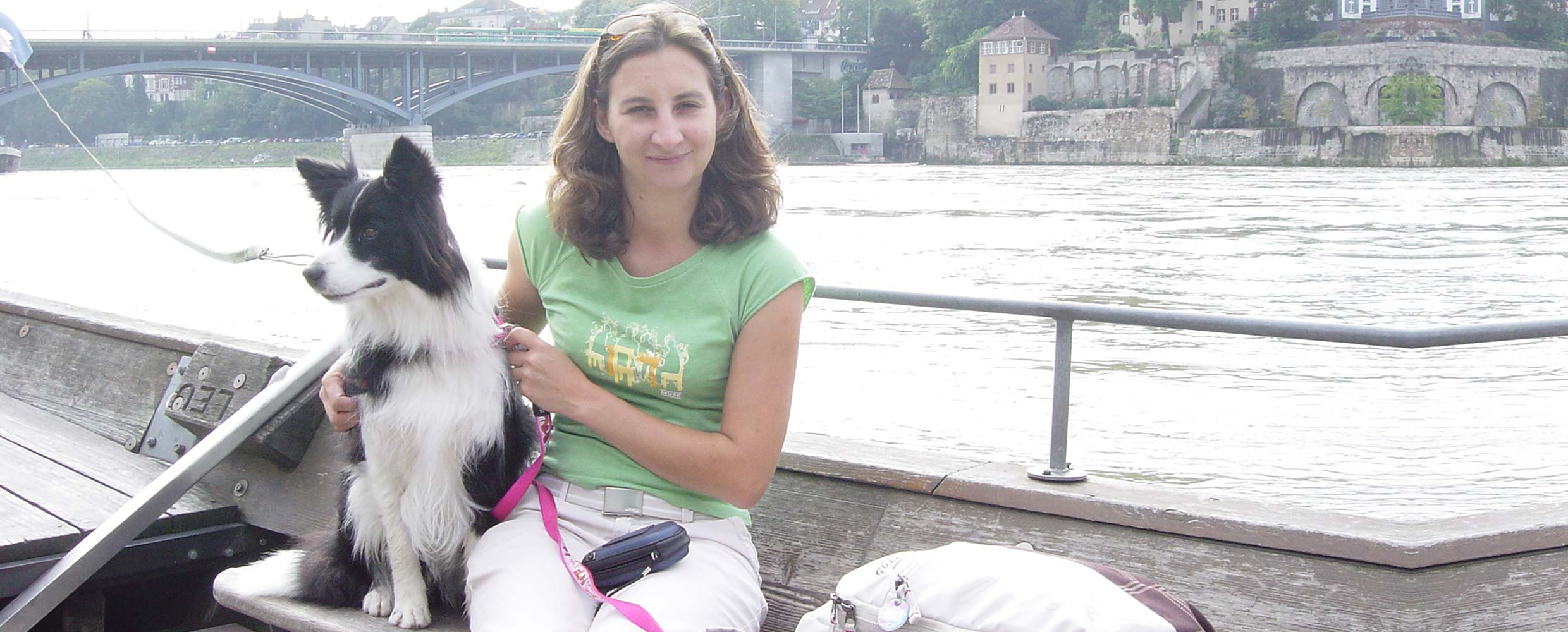 Alison Roets and Freys on a boat on the River Rhine Switzerland